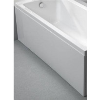 Etulevy kylpyammeeseen Nordhem Marholmen Standard, 1500-1700mm, eri kokoja, valkoinen