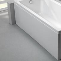 Etulevy kylpyammeeseen Nordhem, Saltholmen Nordurit, 1700mm, valkoinen