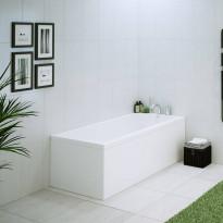 L-paneeli kylpyammeeseen Nordhem, Saltholmen Nordurit, 1500x700mm, valkoinen