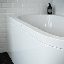 L-paneeli kylpyammeeseen Nordhem, Torekov Nordurit, 1600x725mm, valkoinen