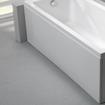 Etulevy kylpyammeeseen Nordhem, Saltholmen Standard, 1500-1900mm, eri kokoja, valkoinen