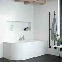 Kylpyamme Nordhem Torekov Standard, 1600-1700x725-800mm, eri kokoja, valkoinen