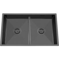 Keittiöallas Nordic Tech Edge 80 K, matala väliseinä, 745x440 mm, musta