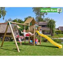 Leikkikeskus Jungle Gym Cubby, sis. liukumäki ja keinumoduuli