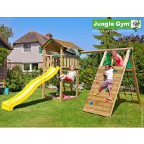 Leikkikeskus Jungle Gym Cottage, sis. kiipeilymoduuli ja liukumäki