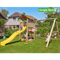 Leikkikeskus Jungle Gym Cottage, sis. keinumoduuli ja liukumäki