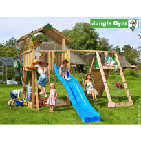 Leikkikeskus Jungle Gym Chalet, sis. kiipeilymoduuli ja liukumäki