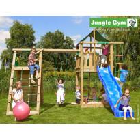 Leikkikeskus Jungle Gym Lodge, sis. kiipeilymoduuli ja liukumäki