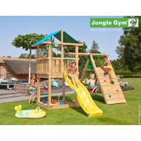 Leikkikeskus Jungle Gym Hut, sis. kiipeilymoduuli ja liukumäki