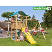 Leikkikeskus Jungle Gym Hut, sis. keinumoduuli ja liukumäki