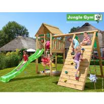 Leikkikeskus Jungle Gym Cabin, sis. kiipeilymoduuli ja liukumäki