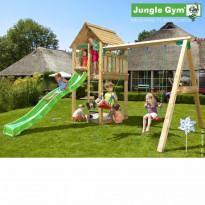 Leikkikeskus Jungle Gym Cabin, sis. keinumoduuli ja liukumäki