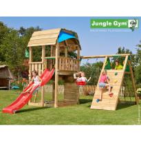 Leikkikeskus Jungle Gym Barn, sis. kiipeilymoduuli ja liukumäki