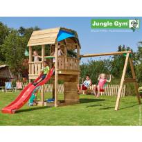 Leikkikeskus Jungle Gym Barn, sis. keinumoduuli ja liukumäki