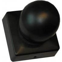 Tolpanhattu Hortus, 75x75mm, koristekuula, musta