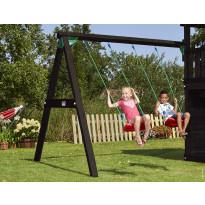 Keinuteline Jungle Gym Swing Module Xtra, sis. puutavaran, musta petsi, verkkokaupan poistotuote