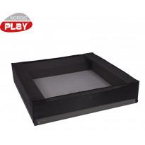 Kissaverkko hiekkalaatikkoon Nordic Play, 150x150x20cm, musta