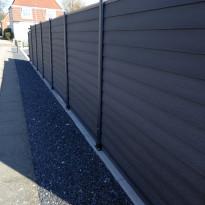 Ponttiprofiiliaitasetti Kirkedal K1, 170cm, yksi tolppa, alumiini, musta