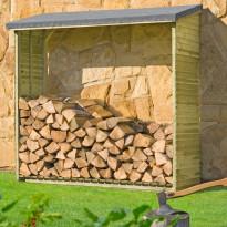 Polttopuukatos Hortus, 188x69x183cm, painekyllästetty puu