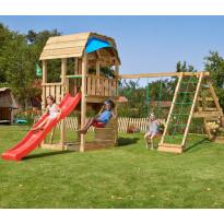 Leikkikeskus Jungle Gym Barn ja Climb Module Xtra, sis. liukumäen