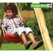 Keinuistuin Jungle Gym Swing, sis. köyden, punainen