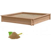 Hiekkalaatikko Nordic Play, 150x150cm, lehtikuusi, sis. 240kg hiekkaa