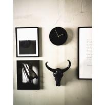Seinäkello OHTO Nordic Home Lastu, Ø25cm, musta/kulta