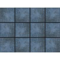 Lattialaatta LPC Fulda Blue, 10x10cm, liimatäpläarkki, sininen