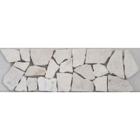 Kiviboordi LPC Riverstone Palladiana Bianco Fascia, 10x30cm, beige