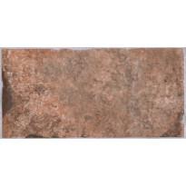 Lattialaatta LPC Depot Punatiili, 10x20cm, Chicago tekstillä, punainen
