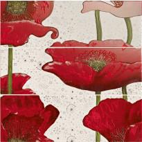 Seinälaatta LPC Play Unikko, 59,1x59,7cm, 3 laattaa, punainen