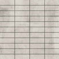 Mosaiikkilaatta LPC Living Hopeanharmaa, 2,7x7,5cm, verkolla