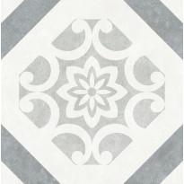 Lattialaatta LPC Firenze Art Déco Dec Grey, 32,5x32,5cm, harmaa, myyntierä 10,5m², Verkkokaupan poistotuote