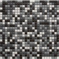 Mosaiikkilaatta LPC Inari Mix, 1,2x1,2cm, verkolla, harmaa
