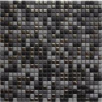 Mosaiikkilaatta LPC Levi Mix, 1,2x1,2cm, verkolla, harmaa