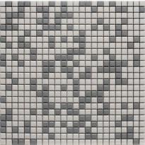 Mosaiikkilaatta LPC Luosto Mix, 1,2x1,2cm, verkolla, harmaa