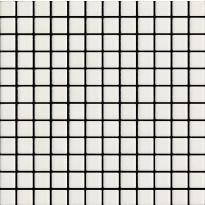 Mosaiikkilaatta LPC Seta 7001 Ghiaccio, 2,5x2,5cm, verkolla, valkoinen