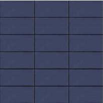 Mosaiikkilaatta LPC Seta 2008 Oceano, 5x10cm, verkolla, sininen