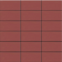 Mosaiikkilaatta LPC Seta 2014 Fuoco, 5x10cm, verkolla, punainen