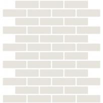 Mosaiikkilaatta LPC Art Stick 6110 Brick, 2,19x7,28cm, verkolla, kiiltävä valkoinen
