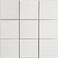 Lattialaatta LPC Spirit White, 9,8x9,8cm, verkolla, valkoinen