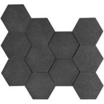 IOT Stoneworld Smoke Hexagon 10X10 Leikattu Verkolla (SM10EXO)