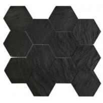 IOT Black Slate Hexagon 10X10 Vaiht.Pinta+Kiilt.Leik.(BK10HEXO)