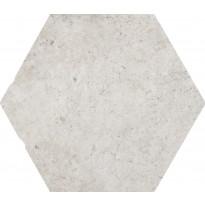 Lattialaatta LPC Toscana Valkoinen Esagona, 24x27,7cm