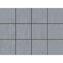 Lattialaatta LPC Minimal Grey, 10x10cm, liimatäpläarkki, harmaa