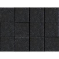 Lattialaatta LPC Tudor Antracite, 10x10cm, liimatäpläarkki, harmaa