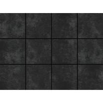 Lattialaatta LPC Fulda Charcoal, 10x10cm, liimatäpläarkki, harmaa