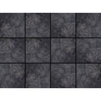 Lattialaatta LPC Lyon Anthracite, 10x10cm, tasapintainen, matta, liimatäpläarkki