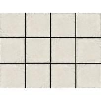 Lattialaatta LPC Tudor White, 10x10cm, liimatäpläarkki, valkoinen