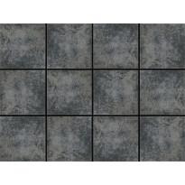 Lattialaatta LPC Fulda Antracite, 10x10cm, liimatäpläarkki, harmaa, myyntierä 12,48m², Verkkokaupan poistotuote
